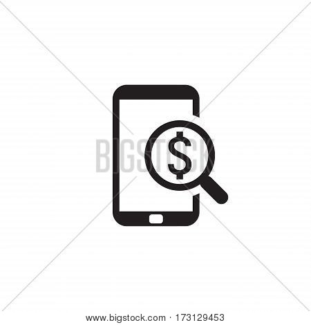 M-Commerce Icon. Business Concept. Flat Design. Isolated Illustration.
