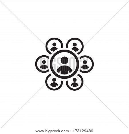 Teamworkt Icon. Business Concept. Flat Design. Isolated Illustration.