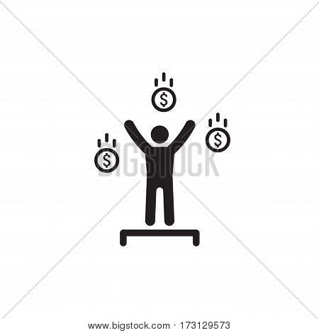 Financial Independence Icon. Business Concept. Flat Design. Isolated Illustration.