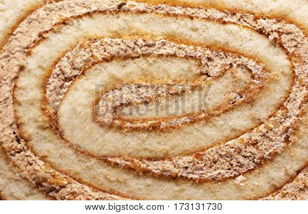 Delicious fresh dessert a piece of cake coffee roll food