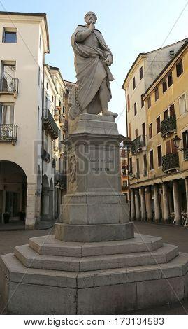 Vicenza Italy Architect Andrea Palladio Statue In The Historic C