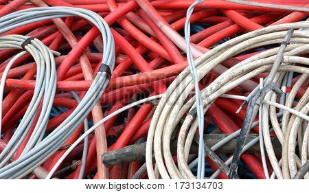 Abandoned High-voltage Electric Cables And Other Power Cords