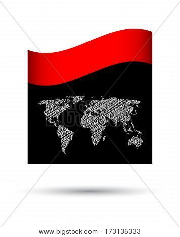 business brochure with special map design,  vector illustration, eps10