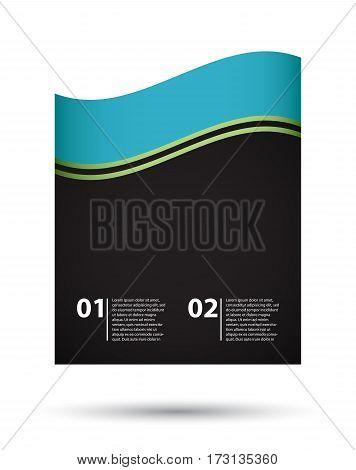 blue-green-black business brochure design, vector illustration, eps10