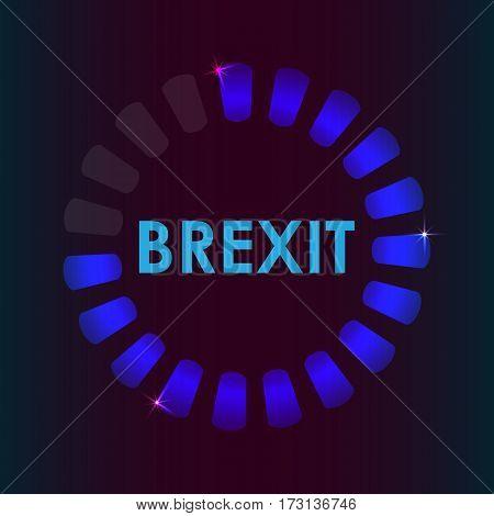 brexit preloader business concept about brexit, vector design