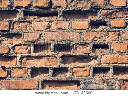 Background of brick wall texture technology pattern design retro style
