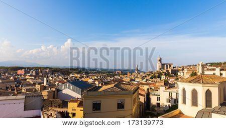 The Medieval Quarter Of Gerona.  Costa Brava, Catalonia, Spain.