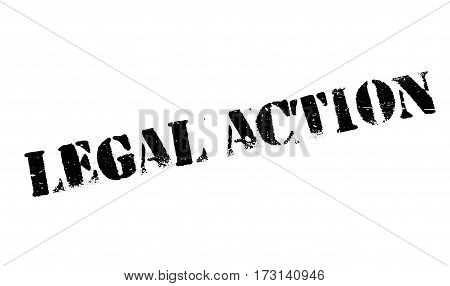Legal Action rubber stamp. Grunge design with dust scratches. Effects can be easily removed for a clean, crisp look. Color is easily changed.