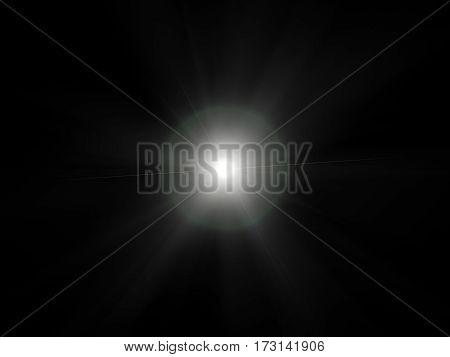 White light special effect concert lighting against a dark background ilustration.