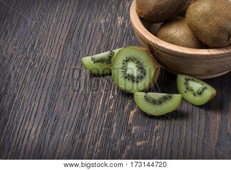 Kiwi Fruit In A Bowl