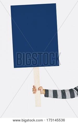 Human Hand Holding Banner Copy Space