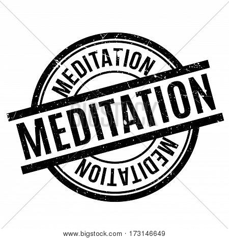 Meditation rubber stamp. Grunge design with dust scratches. Effects can be easily removed for a clean, crisp look. Color is easily changed.