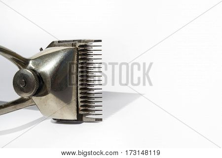 Vintage Hair Clippers Isolated On White Background