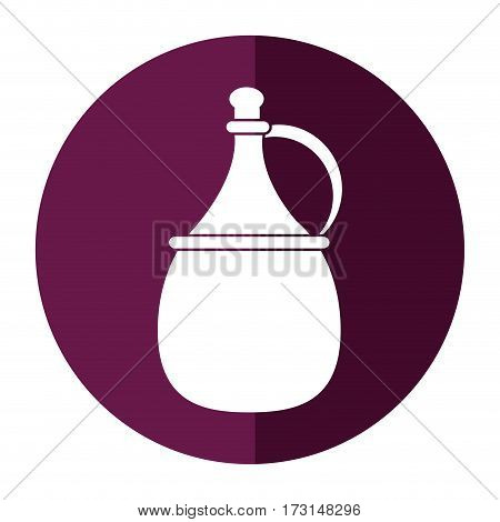 wine carafe cork icon shadow vector illustration eps 10
