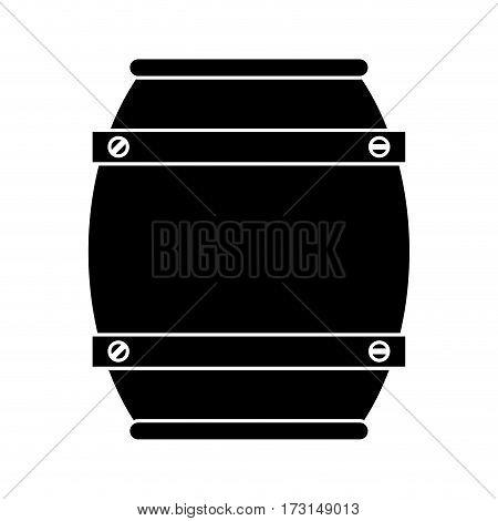 wooden barrel wine pictogram vector illustration eps 10