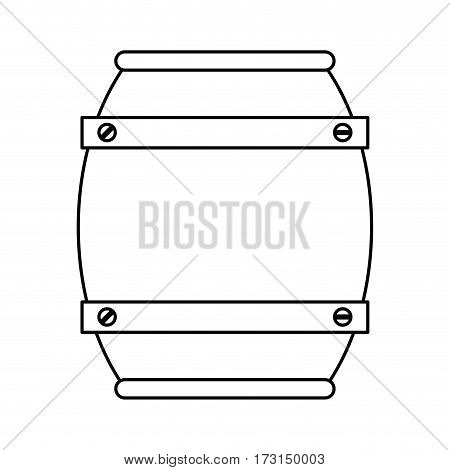 wooden barrel wine thin line vector illustration eps 10