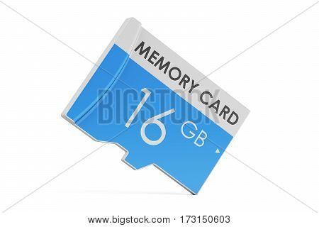 memory card 16 GB 3D rendering isolated on white background