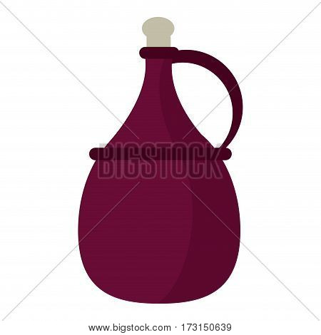 wine carafe cork icon vector illustration eps 10