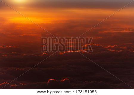 Thick Soft Clouds On Idyllic Sky