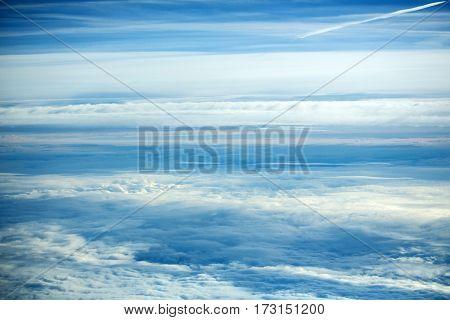 White Soft Clouds On Idyllic Blue Sky