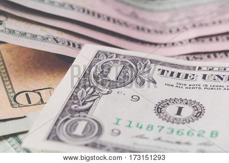 American dollars banknote background. Money, cash, crisis finance concept