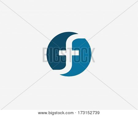 Letter F logo icon design template elements. Logo initial letter F .