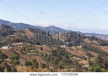 Wide View Of Rural Guatemalan Landscape