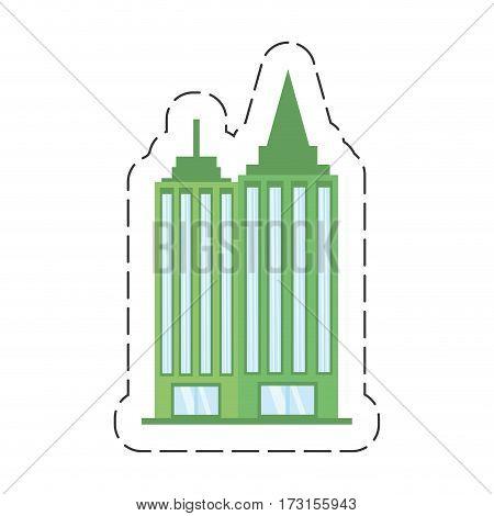 cartoon building office work vector illustration eps 10