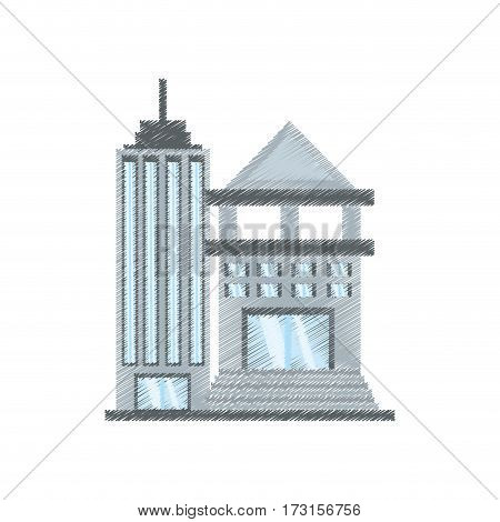 drawing building bank commerce vector illustration eps 10