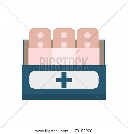 band plaster first aid vector illustration eps 10