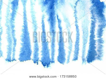 Blue zebra skin pattern. Watercolor abstract background. Raster illustration