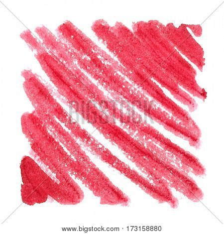 Red zigzag strokes. Abstract background. Space for your own text. Raster illustration
