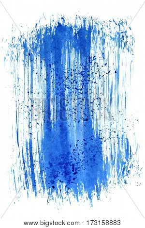 Blue brush stroke. Abstract background. Space for your own text. Raster illustration