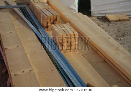 Construction Material Pile