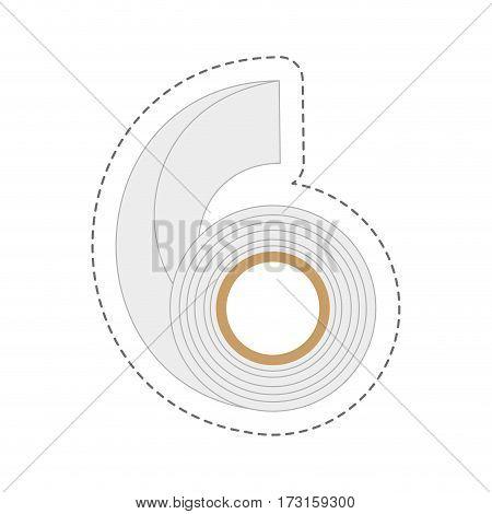 cartoon adhesive bandage roll medical vector illustration eps 10