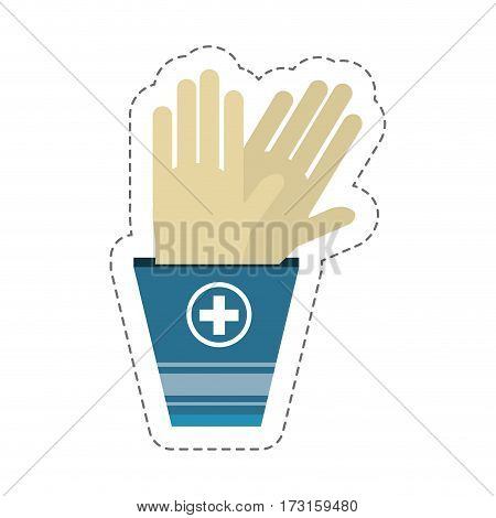cartoon gloves sterile surgery vector illustration eps 10