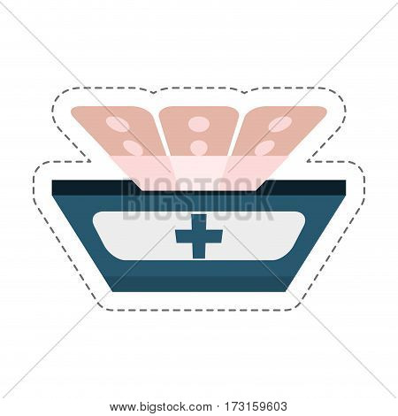 cartoon band plaster first aid vector illustration eps 10