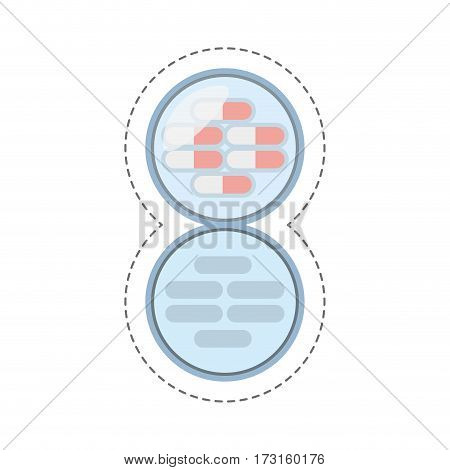 cartoon medication capsule pills icon vector illustration eps 10
