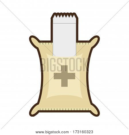 plastic bag sterile bandage medical vector illustration eps 10