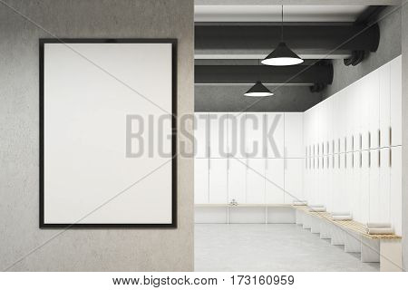 Locker Room With Framed Poster, Front