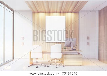 Elegant Ceo Room Interior, Poster, Toned