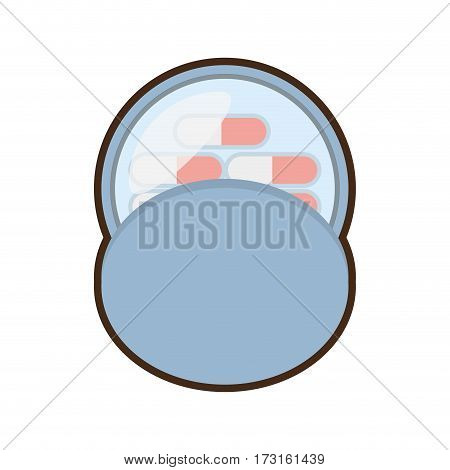 medication capsule pills container vector illustration eps 10
