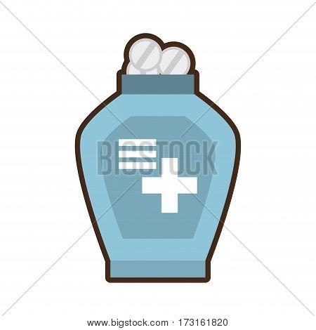 bottle medicine dispenser container vector illustration eps 10
