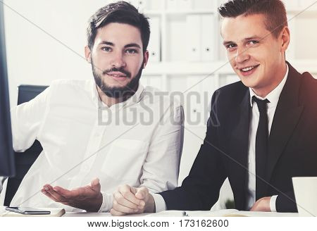 Portrait Of Two Young Startup Founders