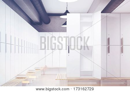 Locker Room With Open Door, Toned