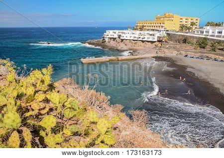 Beautiful beach in Callao Salvaje on Tenerife, Spain