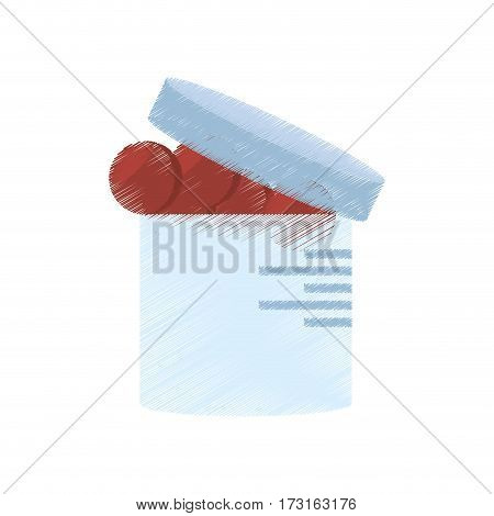 drawing container medication healthy care vector illustration eps 10