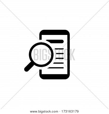 Innovative Search Icon. Business Concept. Flat Design. Isolated Illustration.