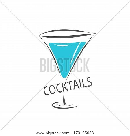 alcohol cocktail label. icons logo vector illustration