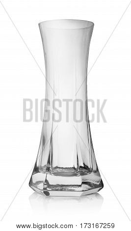 Glass vase isolated on a white background